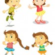 Four kids — Stock Vector #14043999