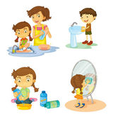 Kids — Vector de stock