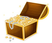A jewellery and a box — Stock Vector