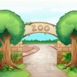 Stock Vector: Zoo