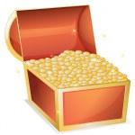 Treasure box — Stock Vector