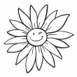 A flower sketch - Stock Vector