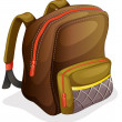 A school bag — Stock Vector