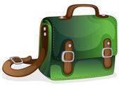 A green bag — Stock Vector