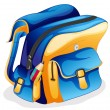 Stock Vector: School bag