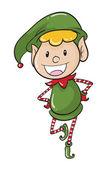 A boy in green joker dress — Stock Vector