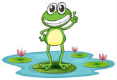 A frog — Stock Vector