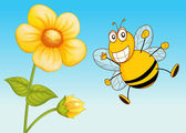 A bee — Stock Vector