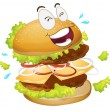 A burger — Stock Vector
