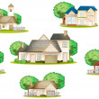 Various houses - Imagen vectorial