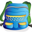 Stock Vector: A school bag