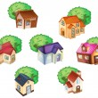 Various houses - Stock Vector