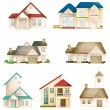 Various houses — Stock Vector #14321579