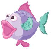 A purple fish — Stock Vector