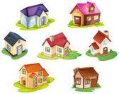 Olika hus — Stockvektor