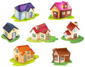 Various houses — Vector de stock