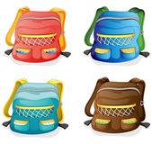 School bags — Stock Vector