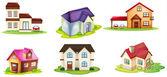 Varias casas — Vector de stock