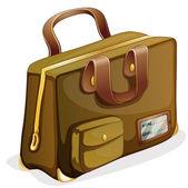 A brown bag — Stock Vector