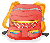 A red school bag — Stock Vector