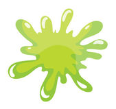 A green color splash — Stock Vector