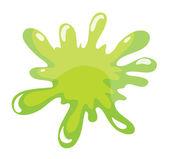 A green color splash — Stock Vector