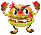 En hamburgare — Stockvektor