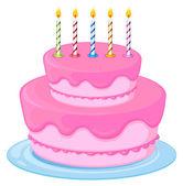 ピンクのケーキ — ストックベクタ