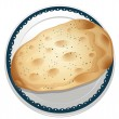 A naan bread - Stock Vector