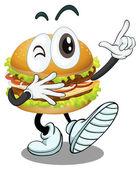 Een hamburger — Stockvector