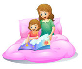 Mom and kid — Stock Vector