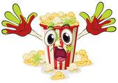 Een popcorn — Stockvector