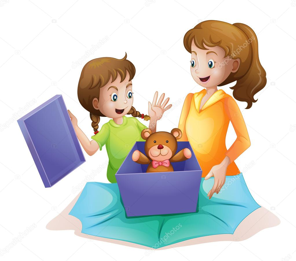 Illustration of mom and kid  — Stock Vector #14562439