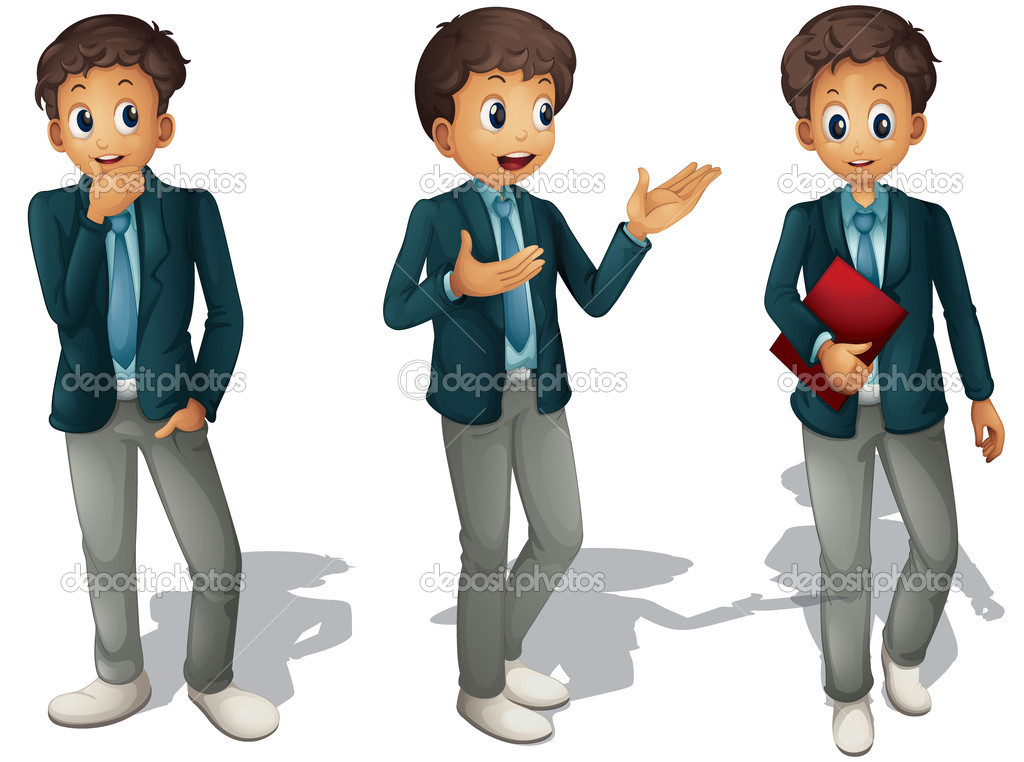 Illustration of three boys on a white background — Stock Vector #14562497