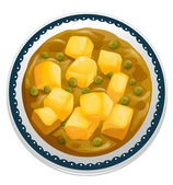 Curry paneer — Stock Vector