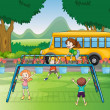 Royalty-Free Stock Vectorielle: Kids and monkey bar