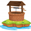 A well and water — Stock Vector