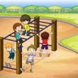 Royalty-Free Stock Imagen vectorial: Kids and monkey bar