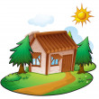 A house - Stock Vector