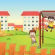 Royalty-Free Stock : Kids and monkey bar