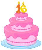 A birthday cake — Stock Vector