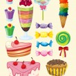 Various sweets — Stock Vector #14856909