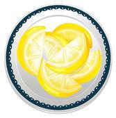 Lemon slices — Stock Vector