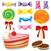 Various sweets — Vector de stock