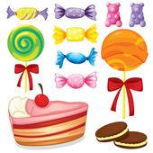 Varios dulces — Vector de stock