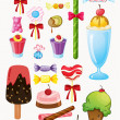 Various sweets — Stock Vector