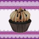 Cupcake and a wallpaper — Stock Vector #14890545