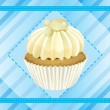 Cupcake and a wallpaper — Stock Vector #14890653