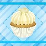 Cupcake and a wallpaper — Stock Vector #14890653