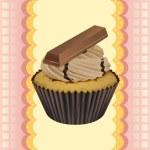 Cupcake and a wallpaper — Stock Vector #14890689